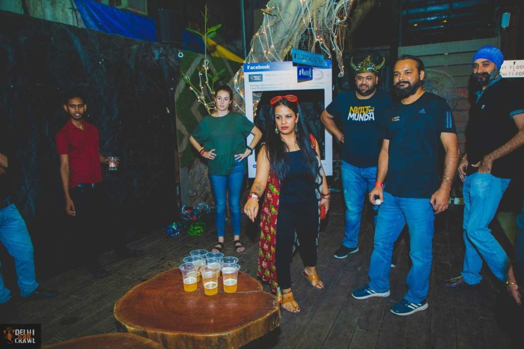 Delhi Bar Crawl beer pong