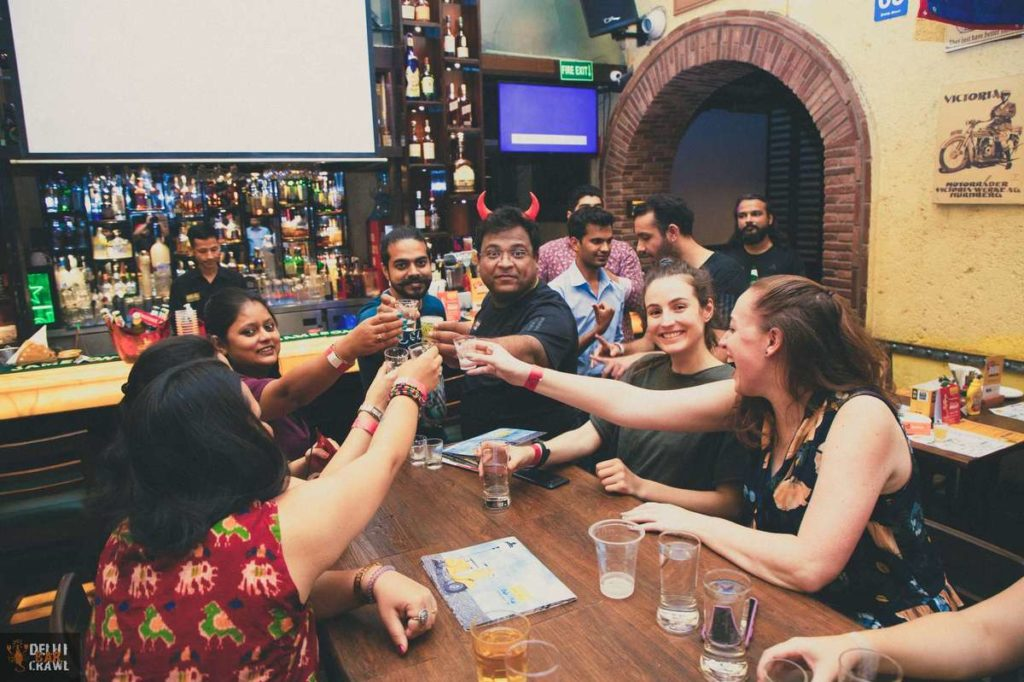 Delhi Bar Crawl shots