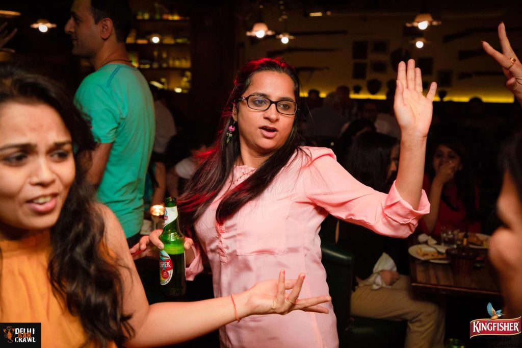 Bar Crawls in New Delhi dancing